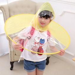 Waterproof Portable Folding Rain Coat Umbrella Hat Hands Fre