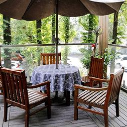 Do4U Waterproof Table Cloth Indoor/Outdoor Tablecloth With Z