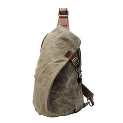 Waxed Sling Bag Crossbody Canvas Bag Waterproof Travel Chest