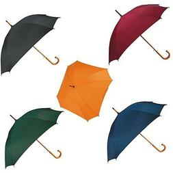 Wedding Automatic 8 rib square umbrella with curved wooden h