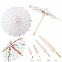 White Bamboo Paper Umbrella Parasol Dancing Wedding Bridal P