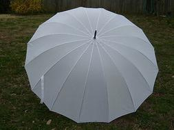 White Wedding Umbrella 16 Panel Classic Design 60 Inch Free
