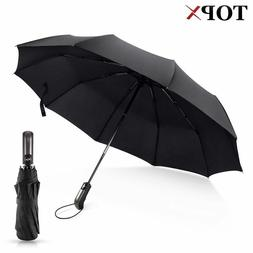 Wind Resistant Umbrella Fully Automatic Compact Folding Stro