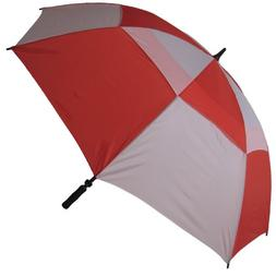 RainStoppers Windbuster Golf Umbrella with Foam Handle, Red/