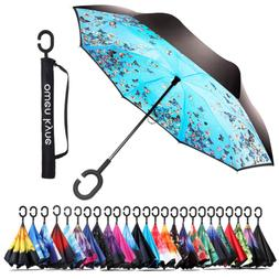 Owen Kyne Windproof Double Layer Folding Inverted Umbrella,