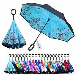 Owen Kyne Windproof Double Layer Folding Inverted Umbrella S
