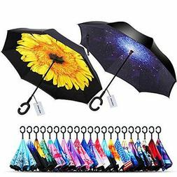windproof double layer folding starry sky sunflower
