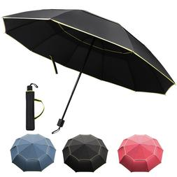 Windproof Folding Oversize Large Rain Umbrella 10 Ribs Paras