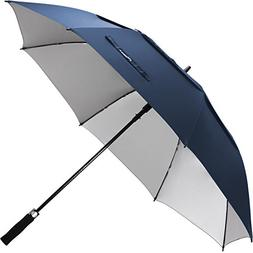 ZEKAR 68 Inch Windproof Large Golf Umbrella, Vented Double C