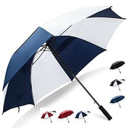 Extra Large Windproof Golf Umbrella: 62 Inch Automatic Open