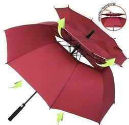 Windproof Golf Umbrella Large for Rain Double Canopy Automat