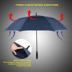 Windproof Large 61 Inch Golf Umbrella Vented Double Canopy A