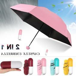 Windproof Snowproof Mini Capsule Umbrella Anti-UV Sun /Rain