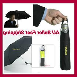 Korjo Windproof Travel Umbrella Black Small Lightwieght Fold
