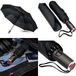 Lifetek Windproof Travel Umbrella Compact Automatic Open Clo