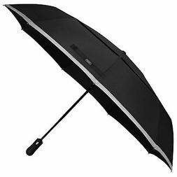 G4Free Windproof Travel Umbrella Double Canopy Vented with A