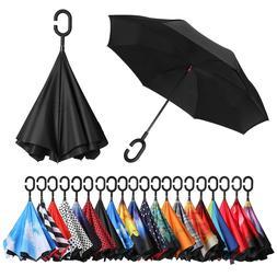 BAGAIL Windproof Umbrella Double Layer Inverted Umbrellas Re