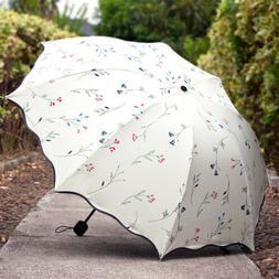 Umbrella UV Protection Sun Umbrella Compact Folding Flower P