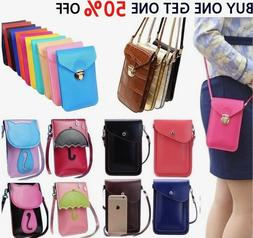 Women Cell Phone Wallet Pocket Purse Shoulder Bags Pouch Cas