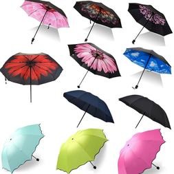 Women Compact Umbrella Automatic Folding Windproof Travel Ha