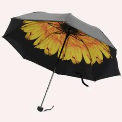 Women Flower Parasol Anti-UV Sun Rain Protection Windproof 3
