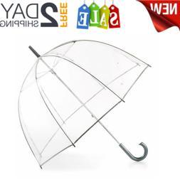 totes Women's Clear Bubble Umbrella WINDPROOF AND RAINPROOF