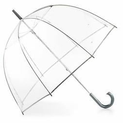 Totes Women's Clear Umbrella S Clear Dome Transparent Throug
