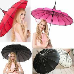 Women's Umbrellas Pagoda Princess Fashion Parasol Auto Open
