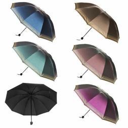 Women Umbrella Parasol Compact Folding Windproof Waterproof