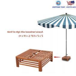 Wooden Parasol Stand Cover Umbrella Base Stand Patio Garden