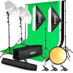 ESDDI Lighting Kit Adjustable Max Size 2.6Mx3M Background Su