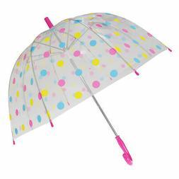 X-brella Childrens/Kids Polka Dot Birdcage Umbrella